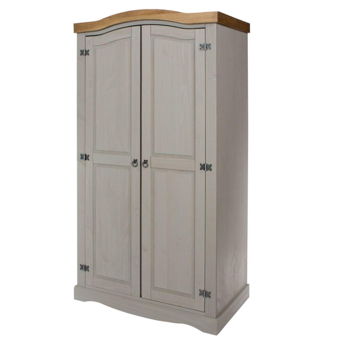 Halea 2-Door Wardrobe - Grey