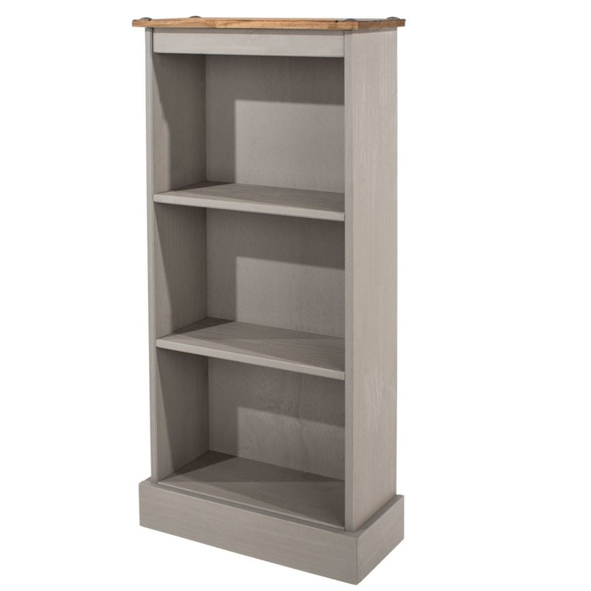 Halea Low Narrow Bookcase - Grey