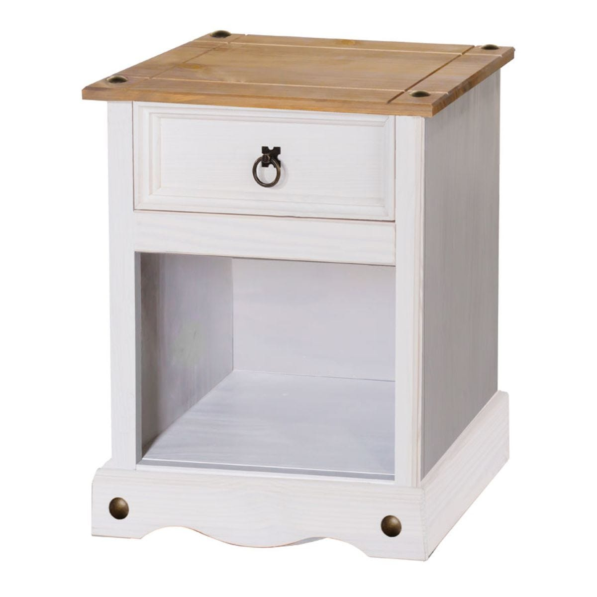 Halea 1-Drawer Bedside Cabinet - White