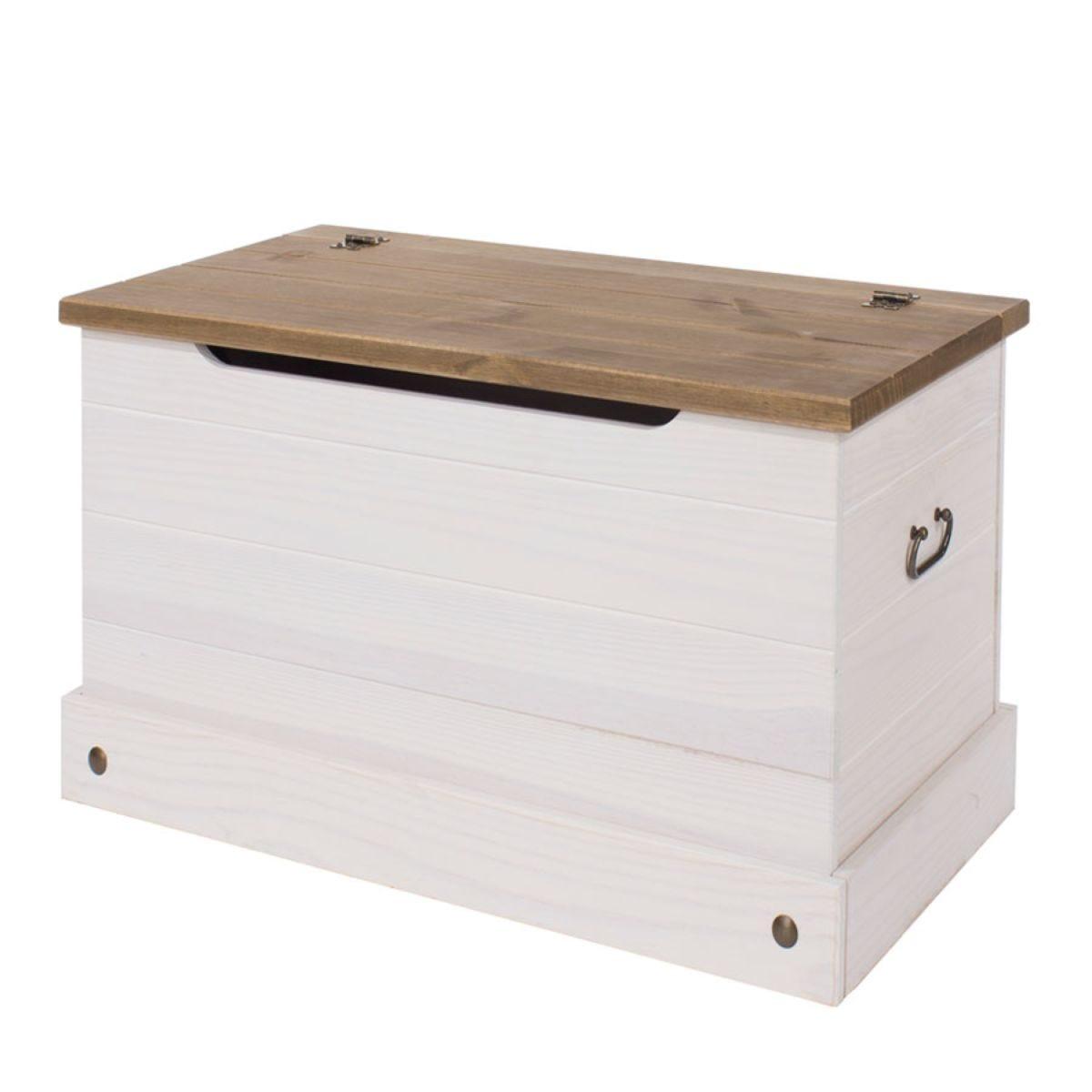 Halea Pine Storage Trunk - White