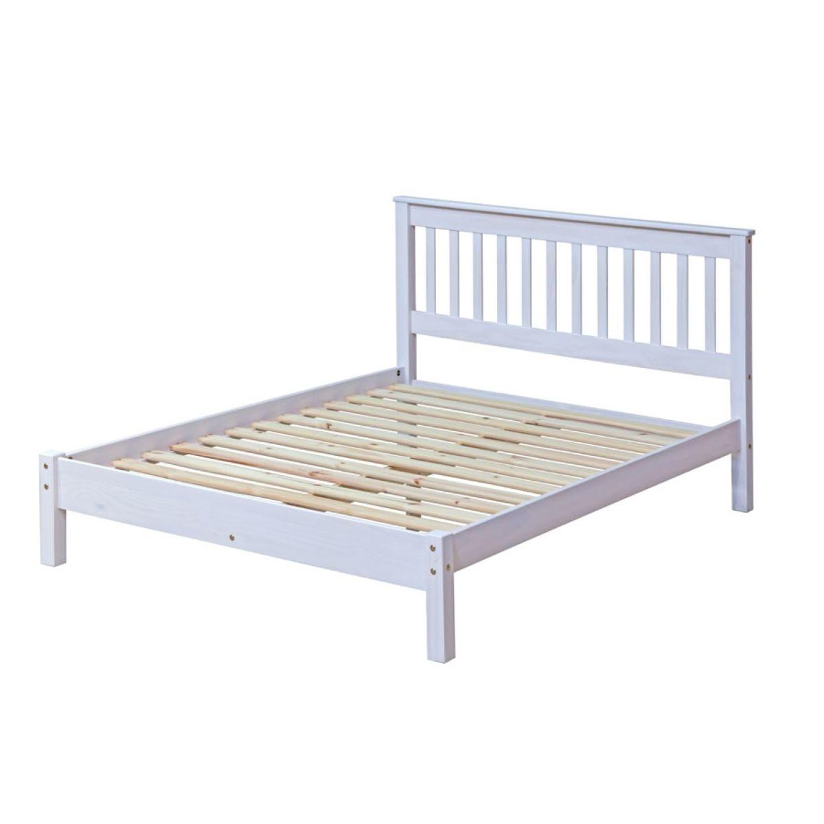 Halea Pine 4'6'' Double Bed - White