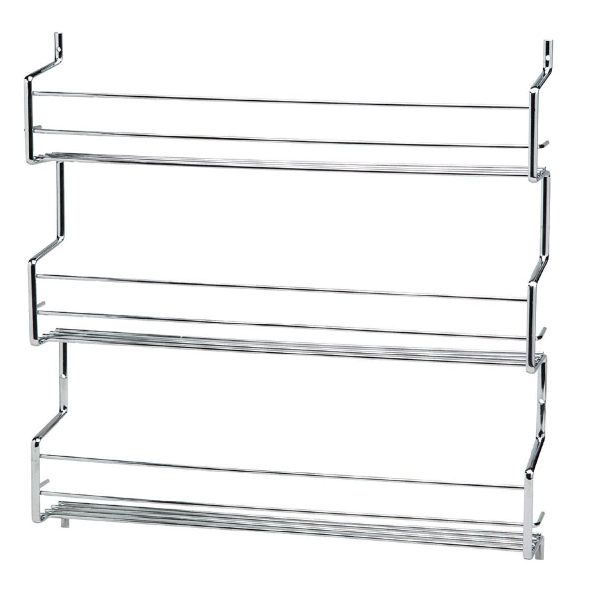 Hahn Metal Wall / Cupboard 3 Tier Spice Rack - Chrome