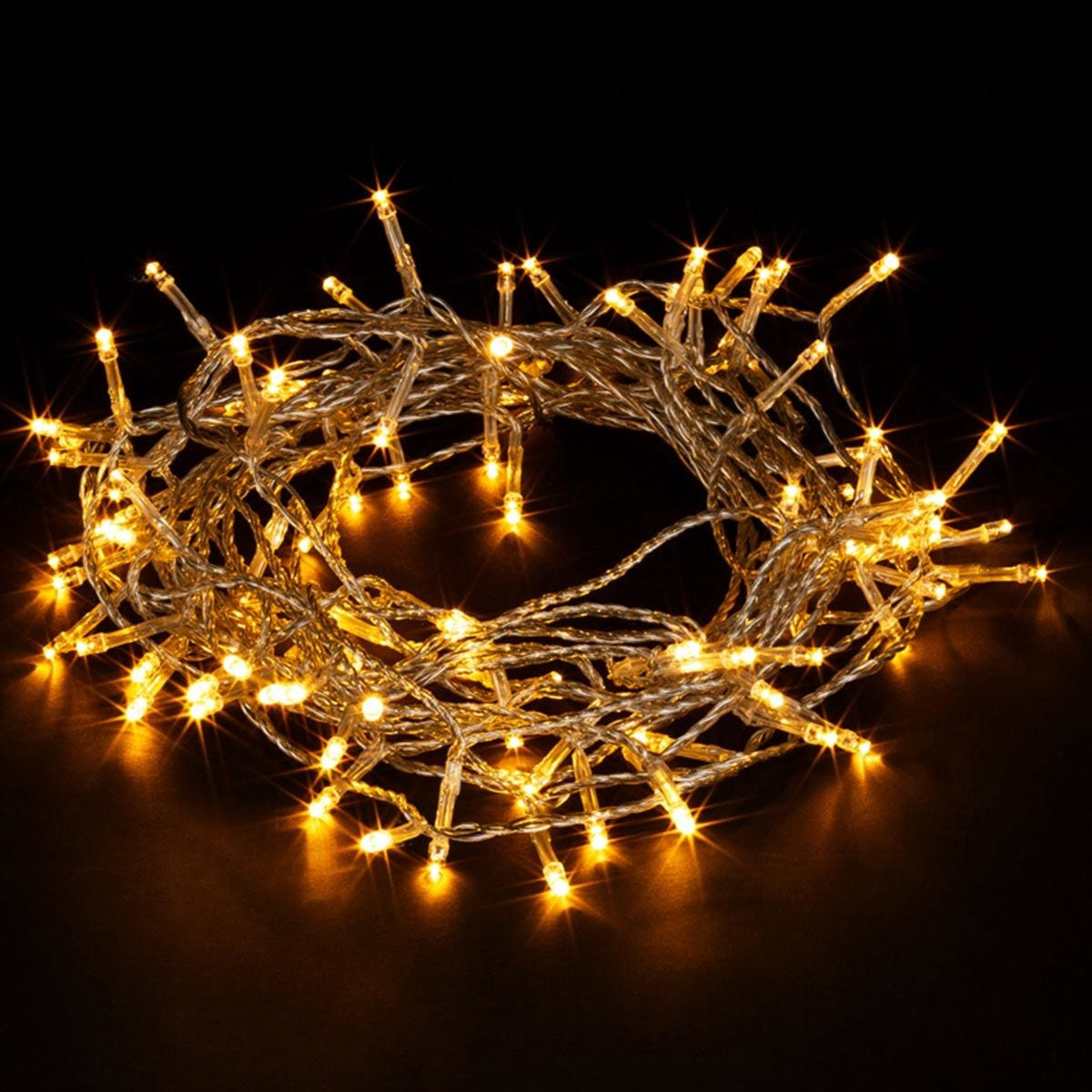 Robert Dyas Battery Operated LED Transparent String Lights - Warm White