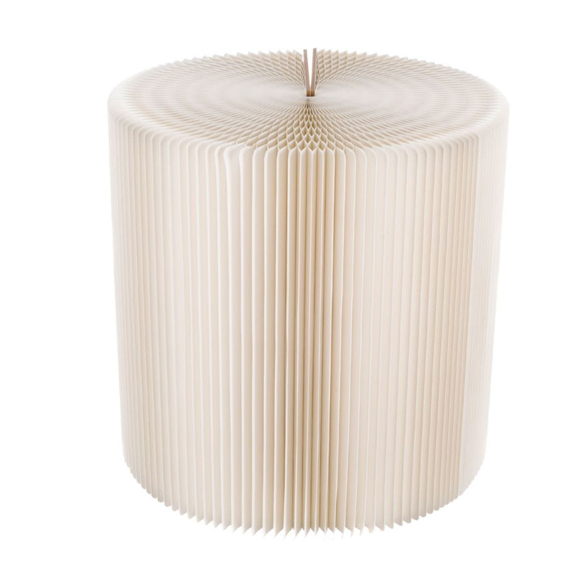 Paper Lounge 50cm Tall Concertina Table - White