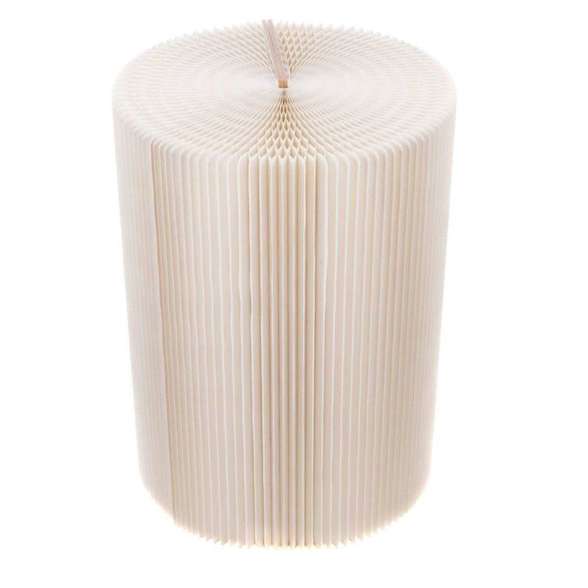 Paper Lounge 70cm Tall Concertina Table - White