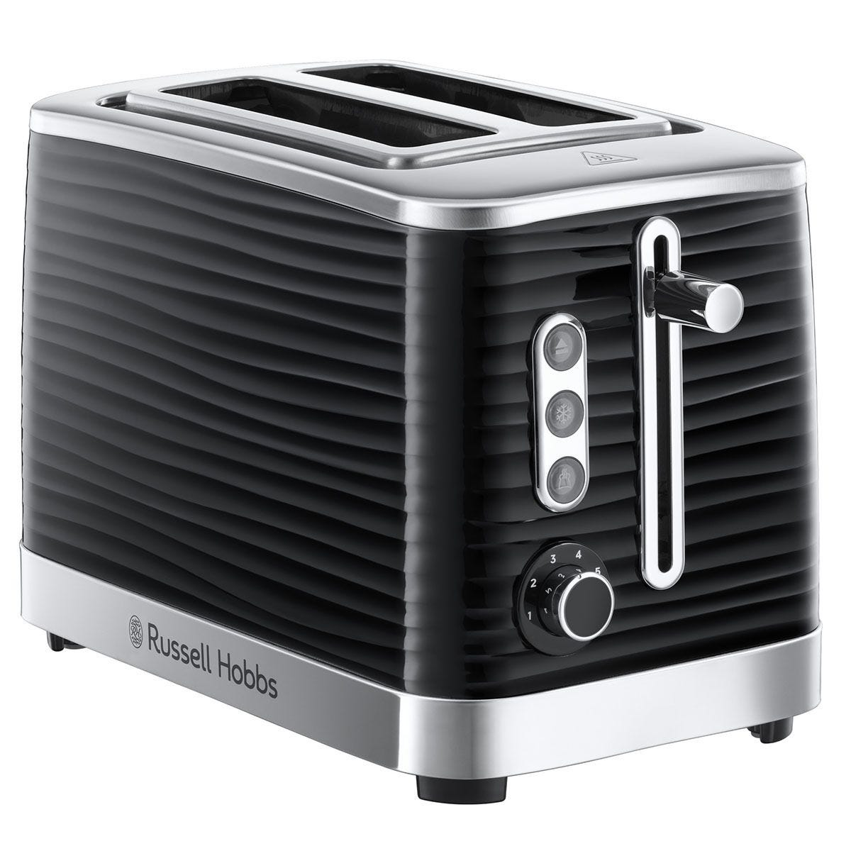 Russell Hobbs Inspire 2-Slice Toaster - Black