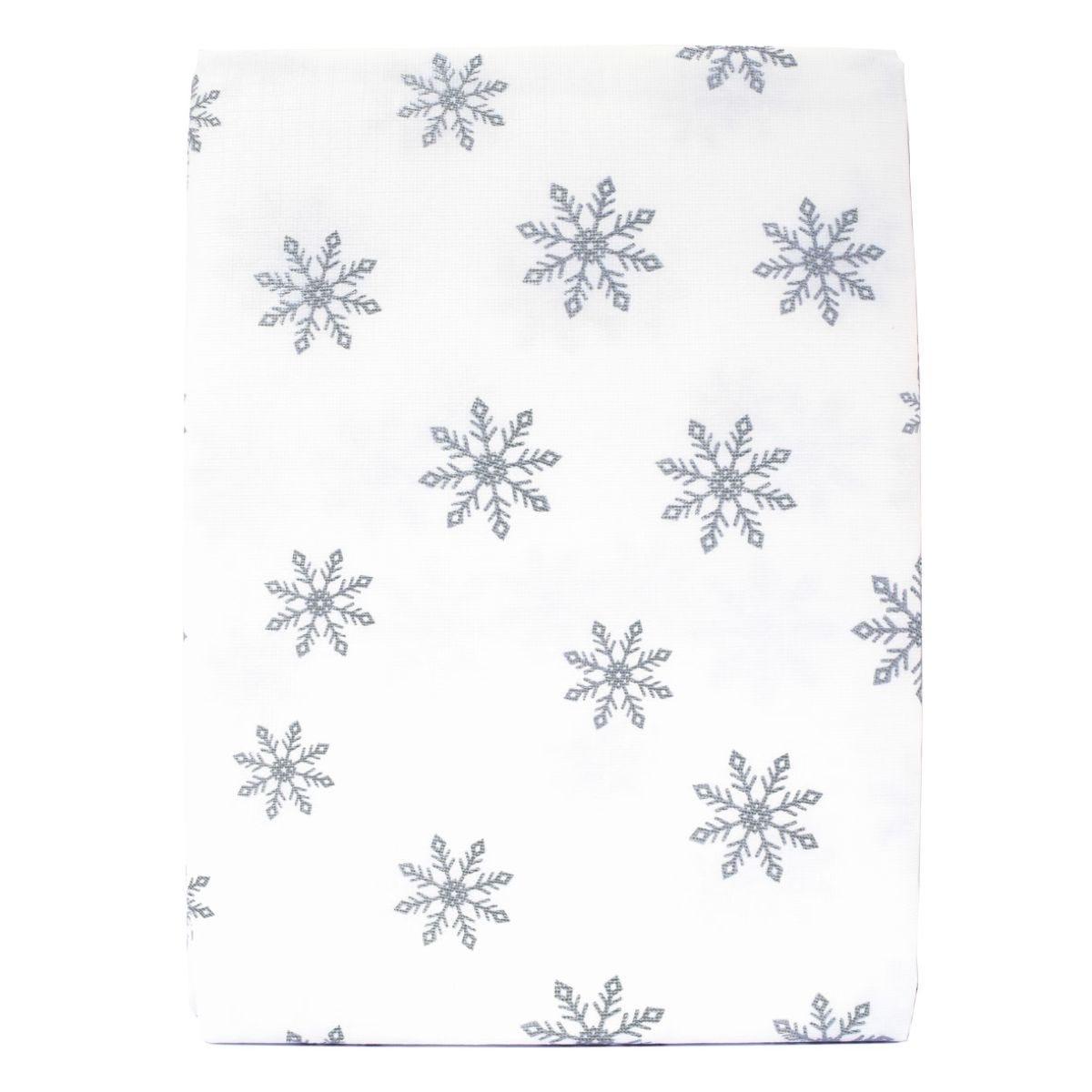 Silver Snowflake Peva Tablecloth