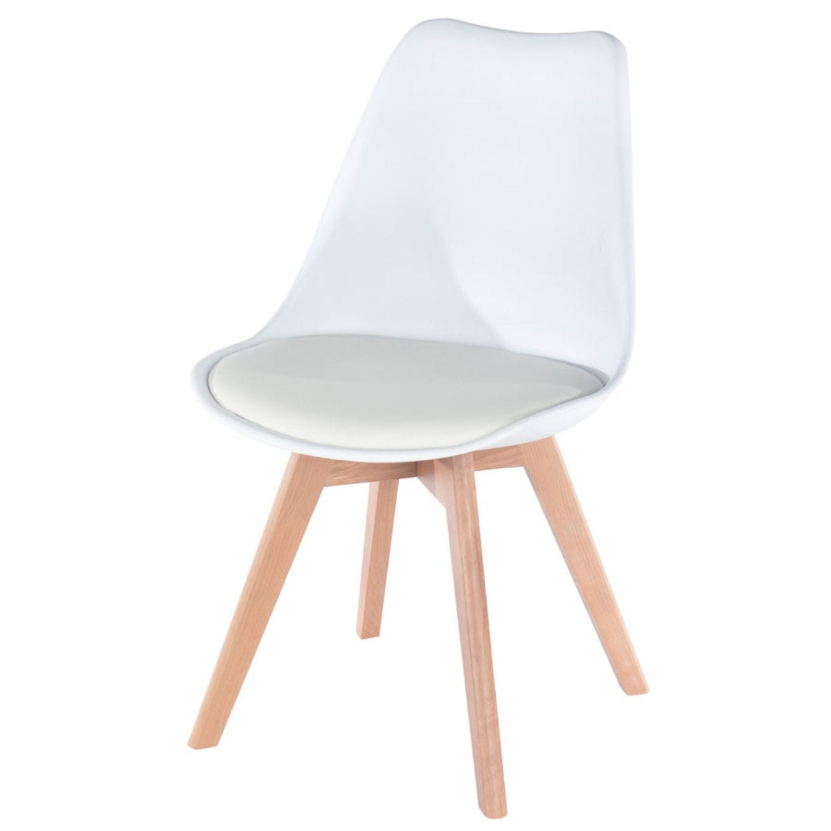 Roloku Plastic Padded Pair of Seats - White