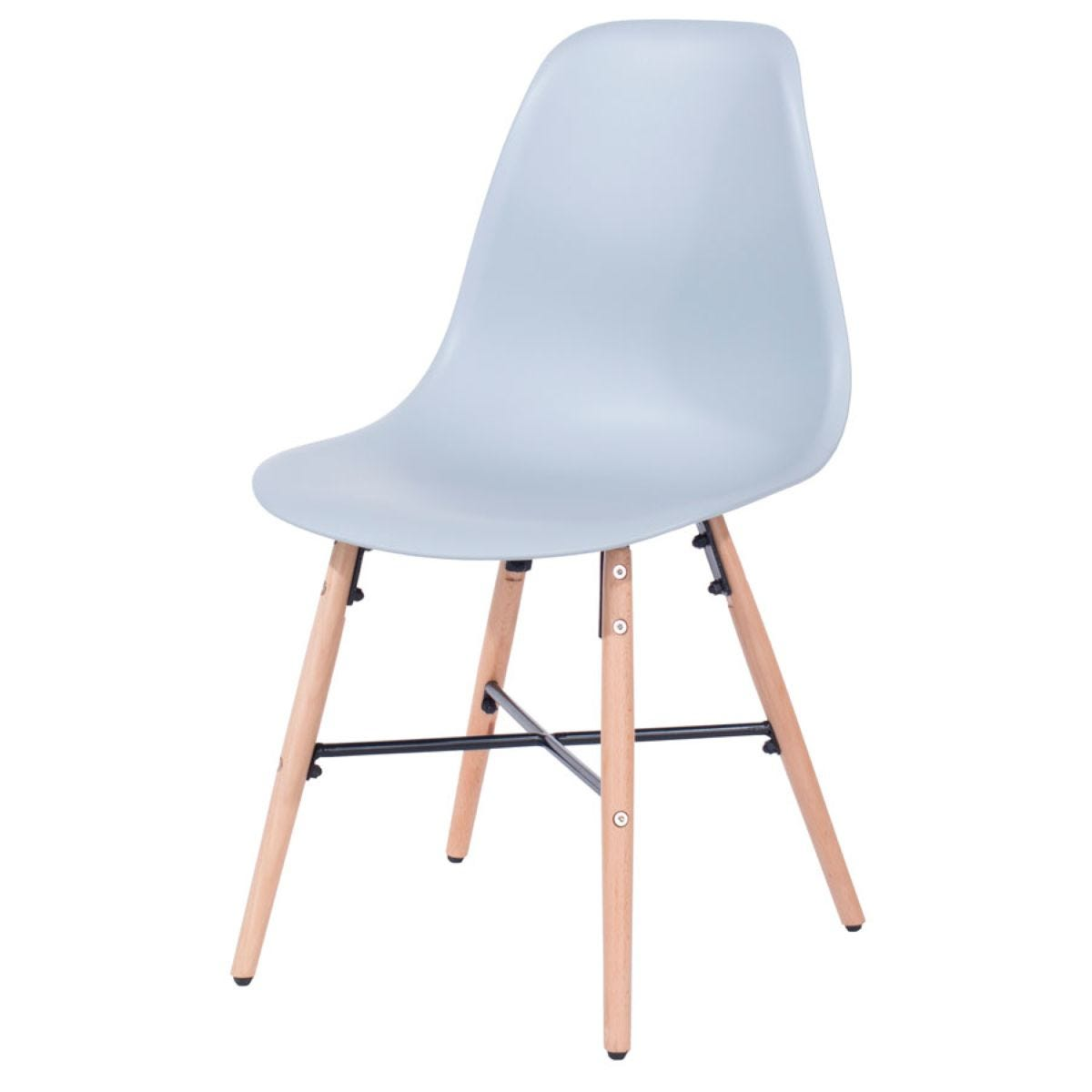 Roloku Pair of Chairs with Metal Cross Rails - Grey