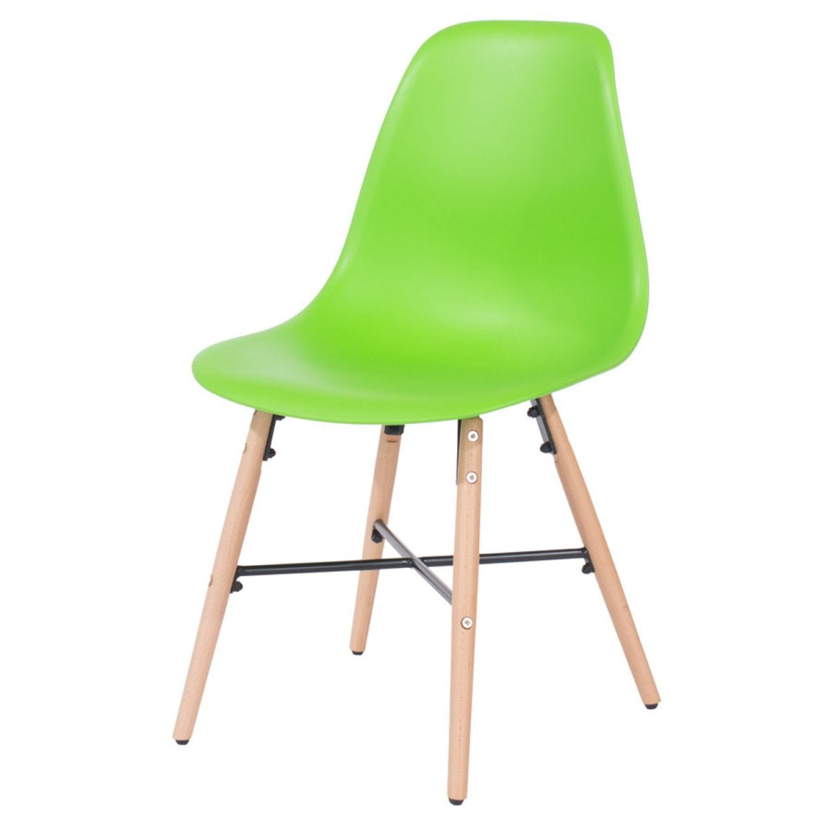 Roloku Pair of Chairs with Metal Cross Rails - Green