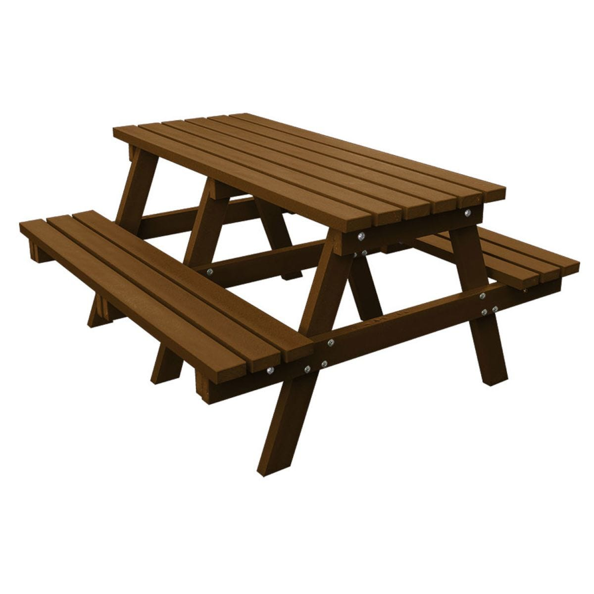 NBB Recycled Heavy Duty A-Frame 1.8m Picnic Table - Brown