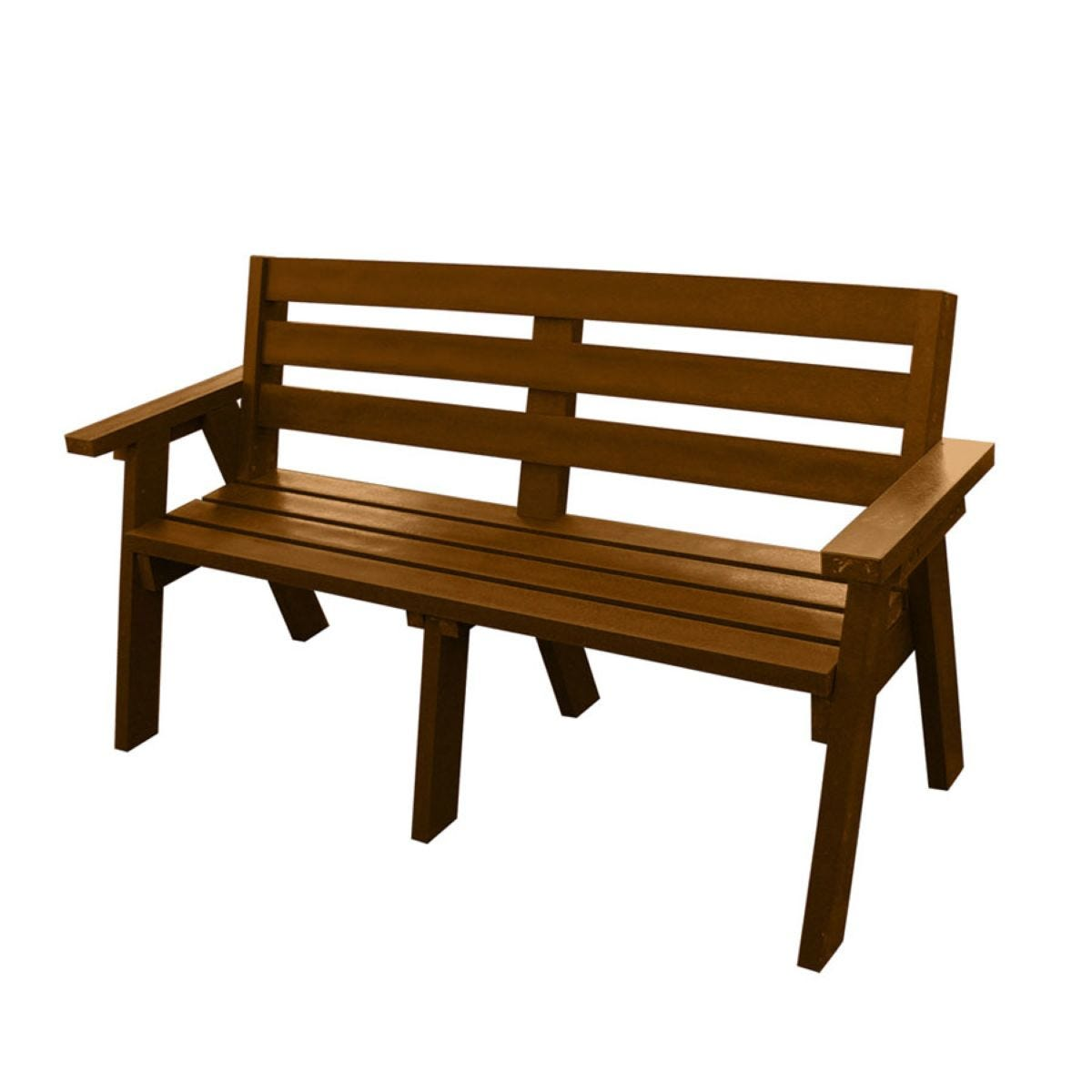 NBB Recycled Captains Treble Bench Seat - Brown