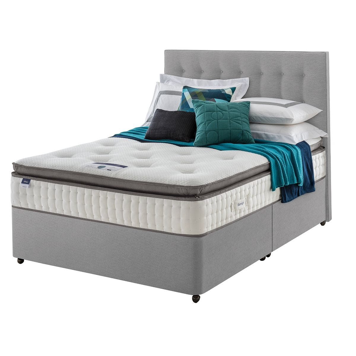 Silentnight Miracoil Geltex Divan Bed - Grey