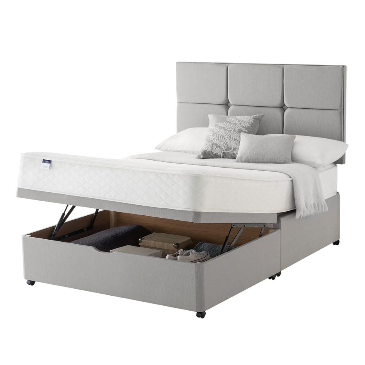 Silentnight Miracoil Memory Ottoman Divan Bed - Grey