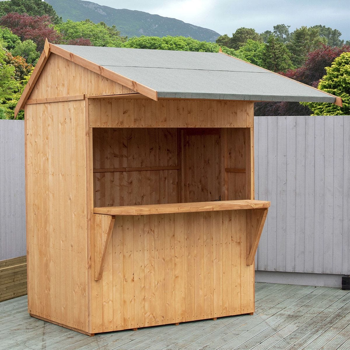 Shire Wooden Shed and Bar Area