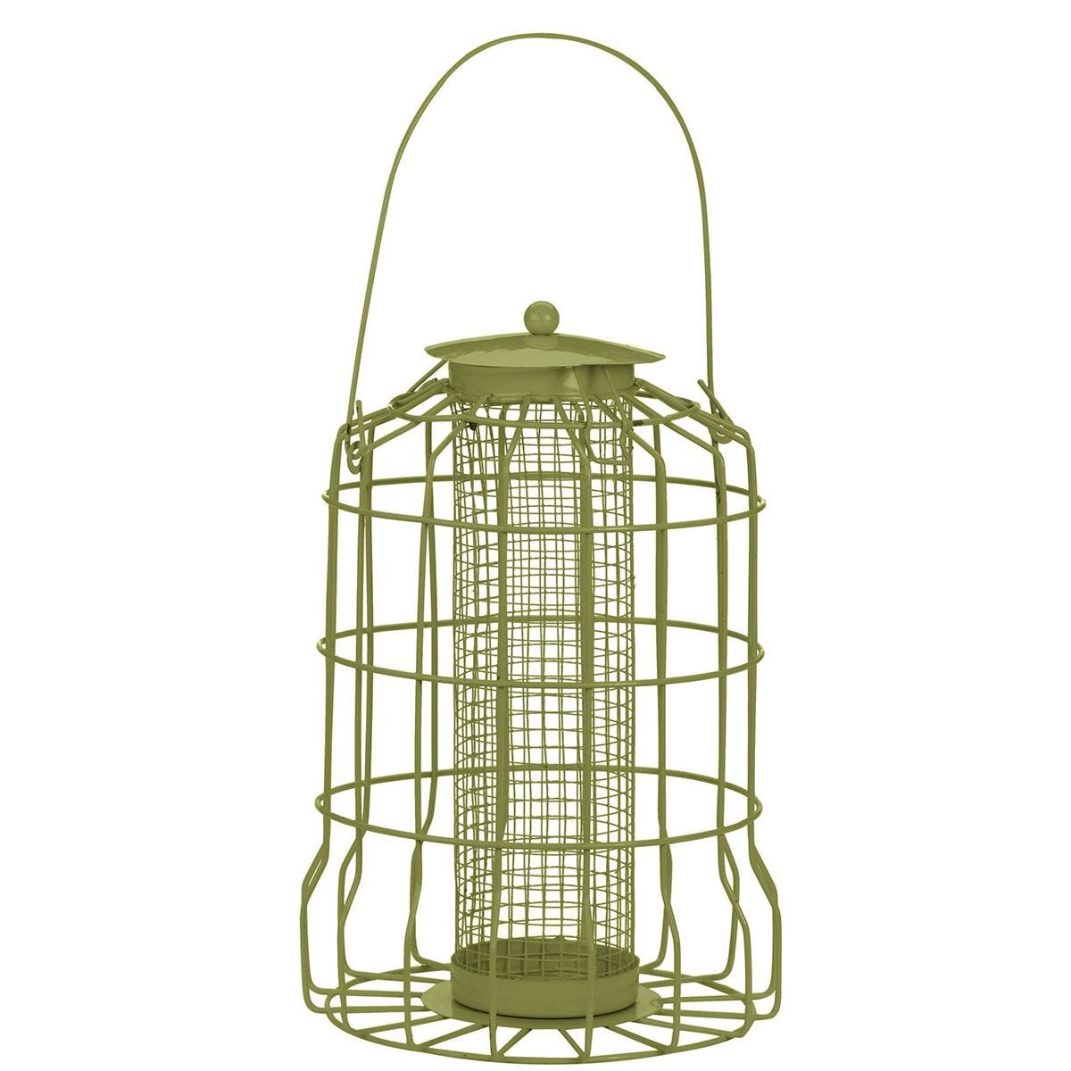 Chapelwood Squirrel Proof Peanut Bird Feeder - Olive Green