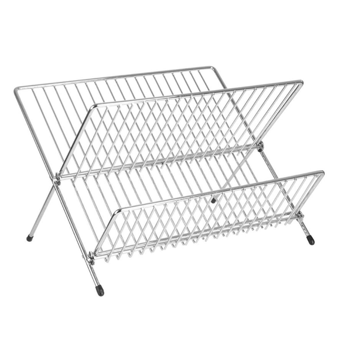 Premier Housewares Folding Dish Drainer - Chrome
