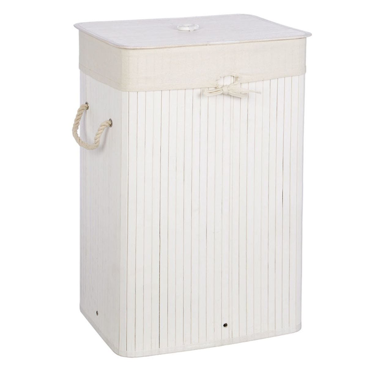 Premier Housewares Kankyo Laundry Hamper Bamboo - White