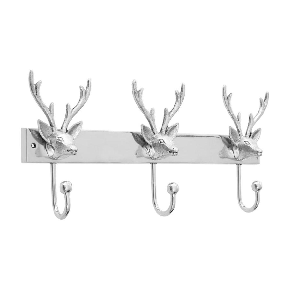 Premier Housewares Stag Head Motif 3 Hook Hanger