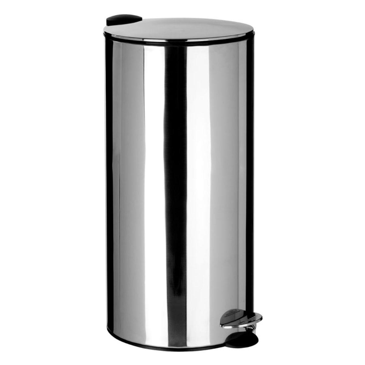Premier Housewares 30L Pedal Bin - Mirrored
