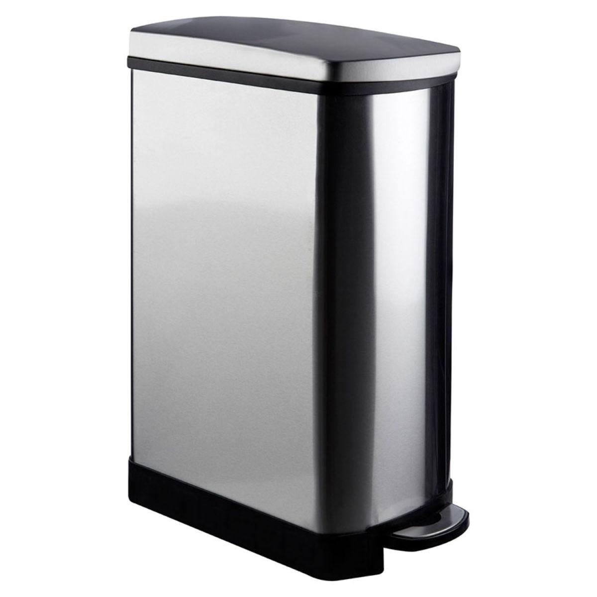 Premier Housewares 35L Rectangle Pedal Bin - Mirrored