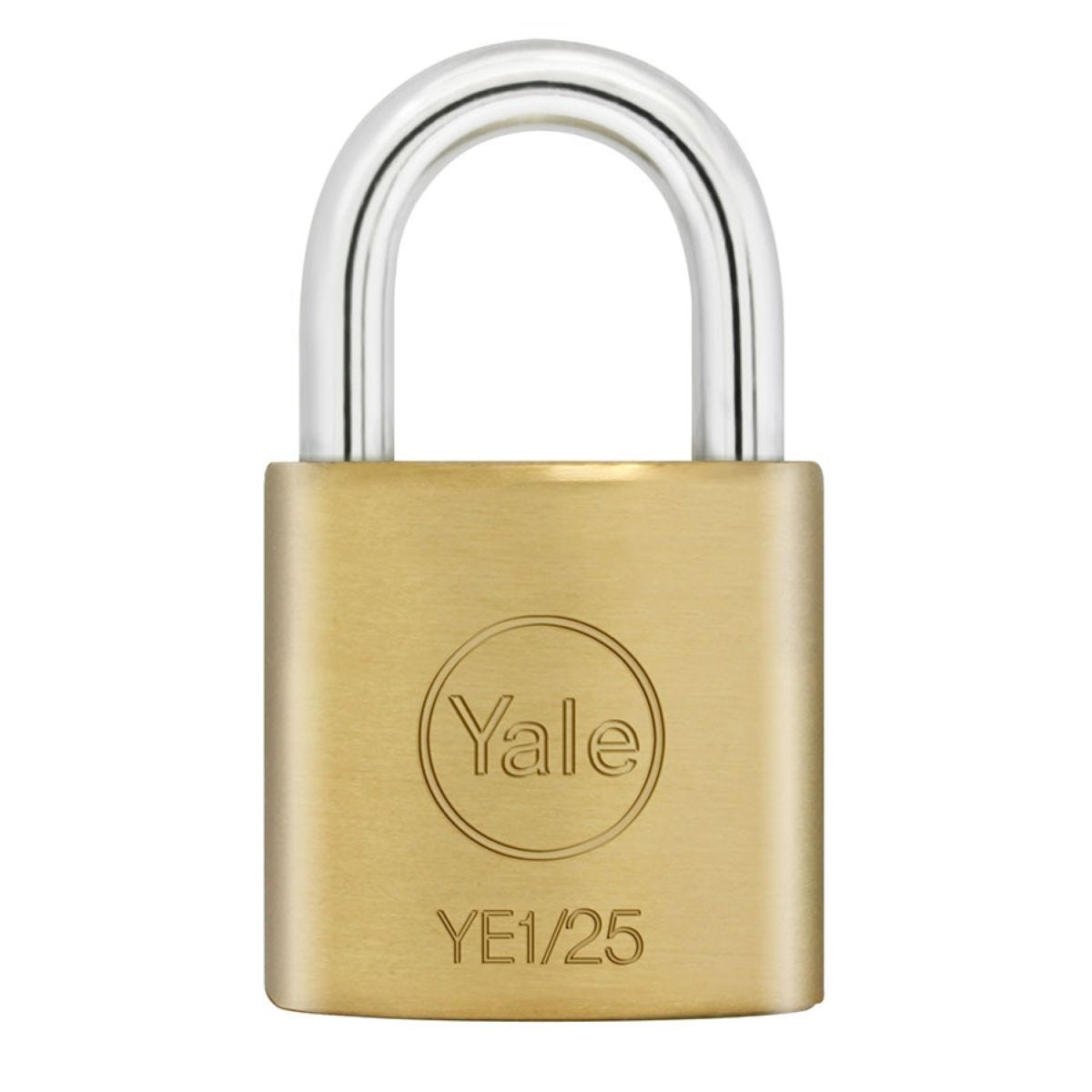 Yale Open Shackle Padlock 25mm Brass