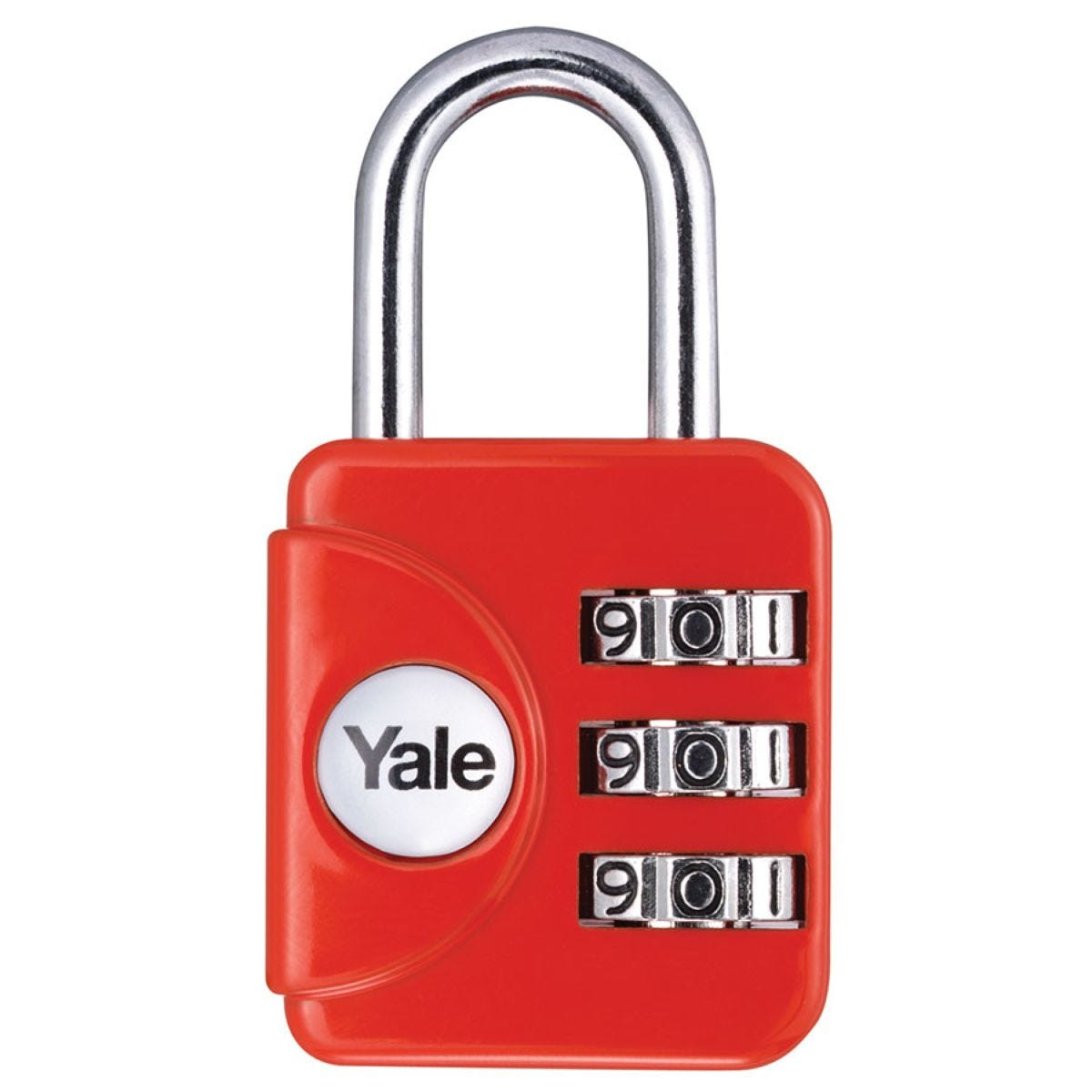 Yale Combination Padlock 28mm - Red