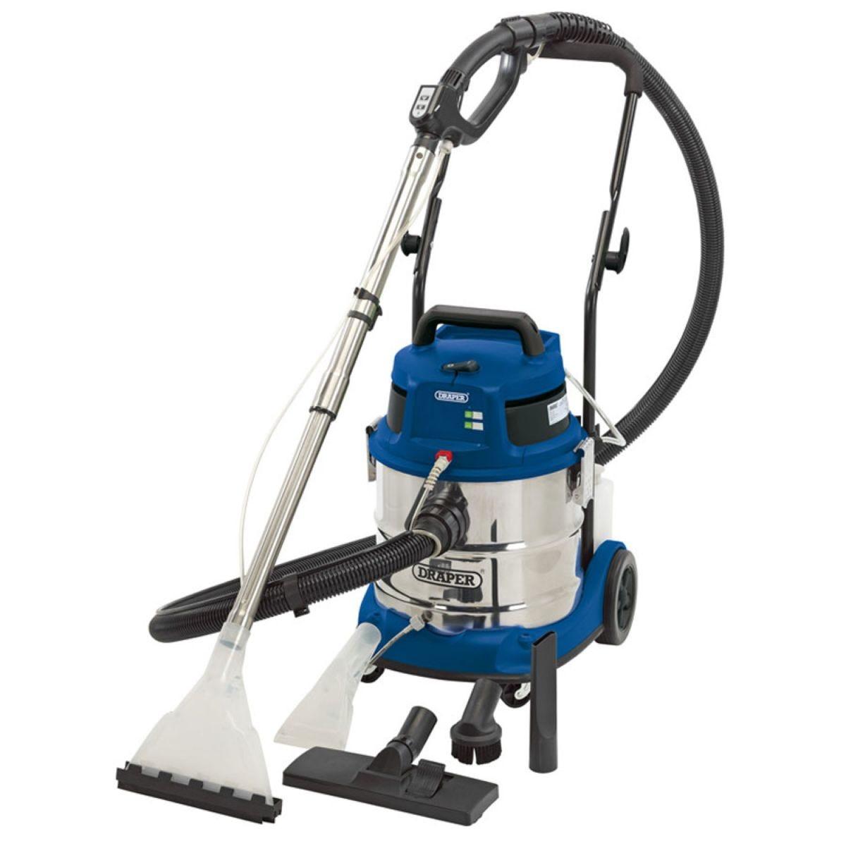 Draper 1500W 230V Wet and Dry Shampoo/Vacuum Cleaner – 20L