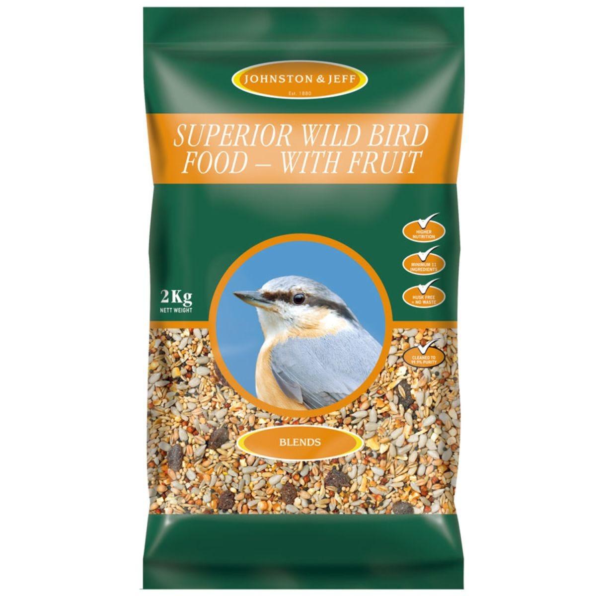Johnston & Jeff Superior Wild Bird Food with Fruit - 2kg