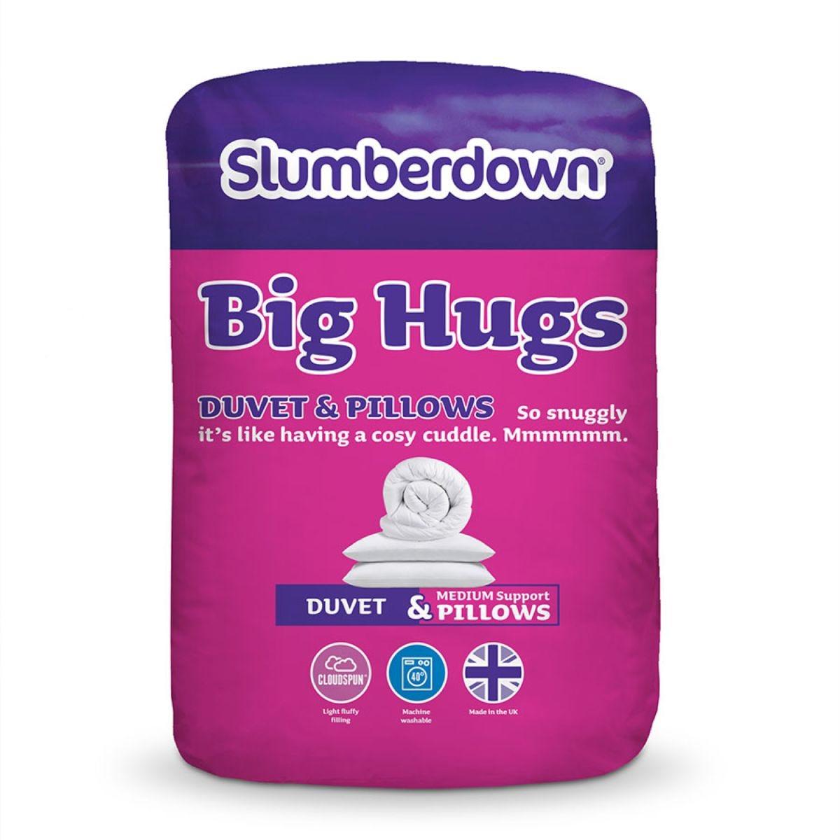 Slumberdown Big Hugs Duvet & 2 Pillows - 10.5 Tog