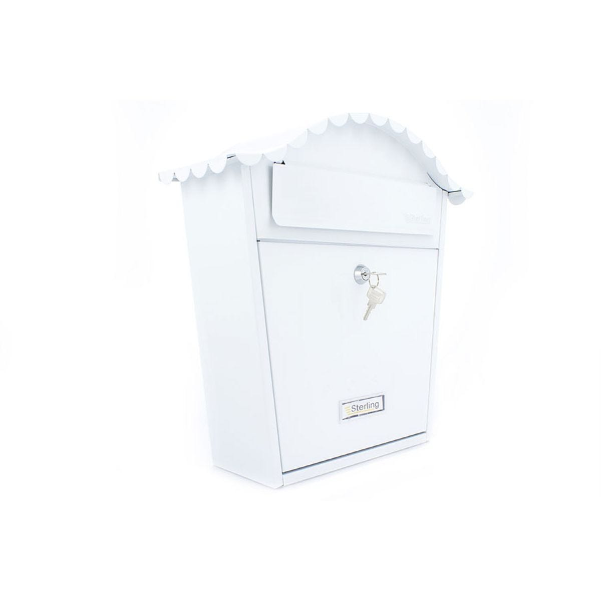 Sterling Classic Post Box - White