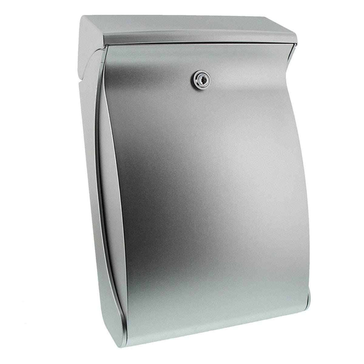 Burg-Wachter Swing Post Box - Silver