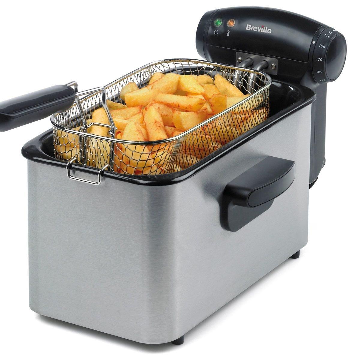 Breville VDF100 3L Professional 2000W Stainless Steel Fryer – Silver/Black