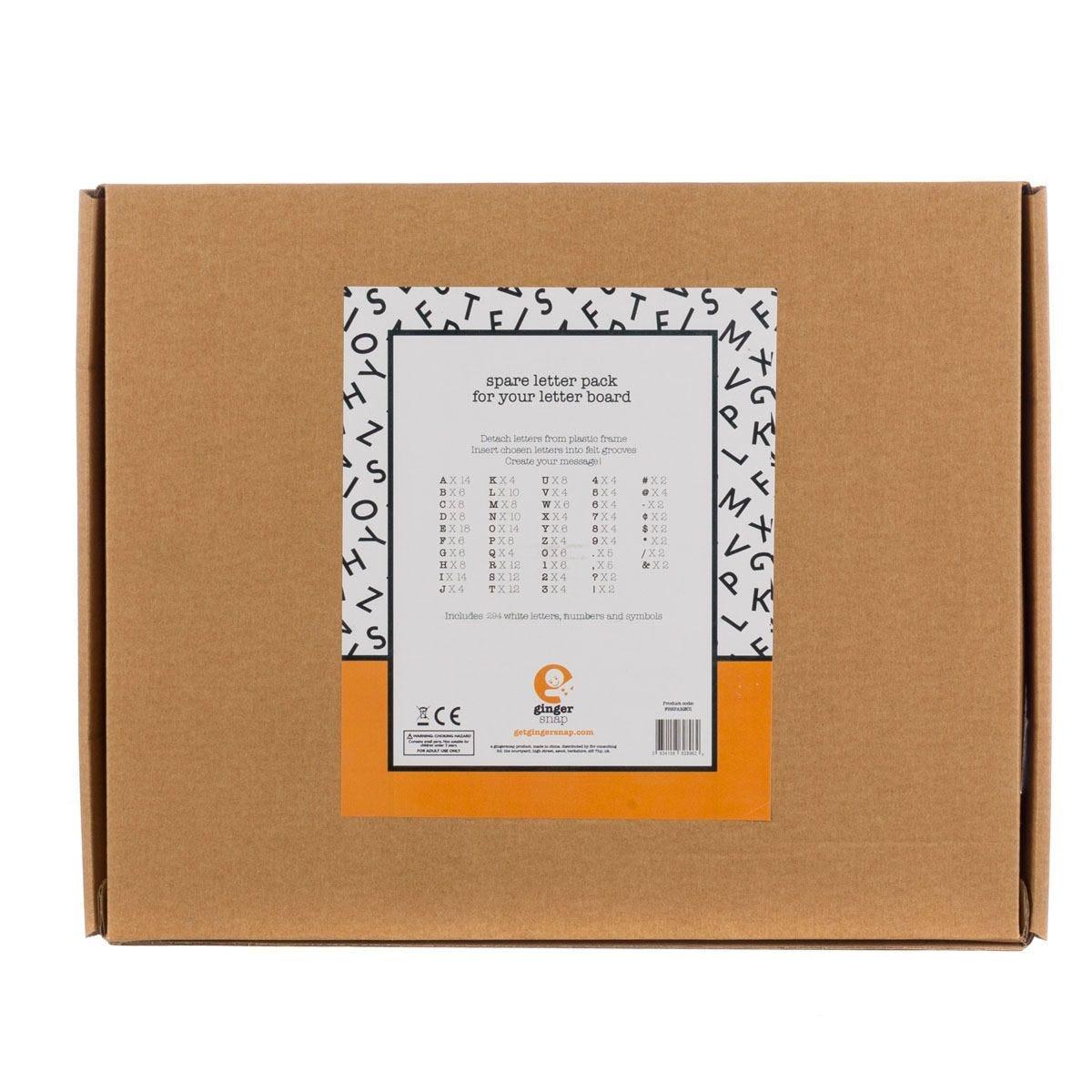 Spare 3/4 Inch Felt Letter Pack for Felt Message Boards - White