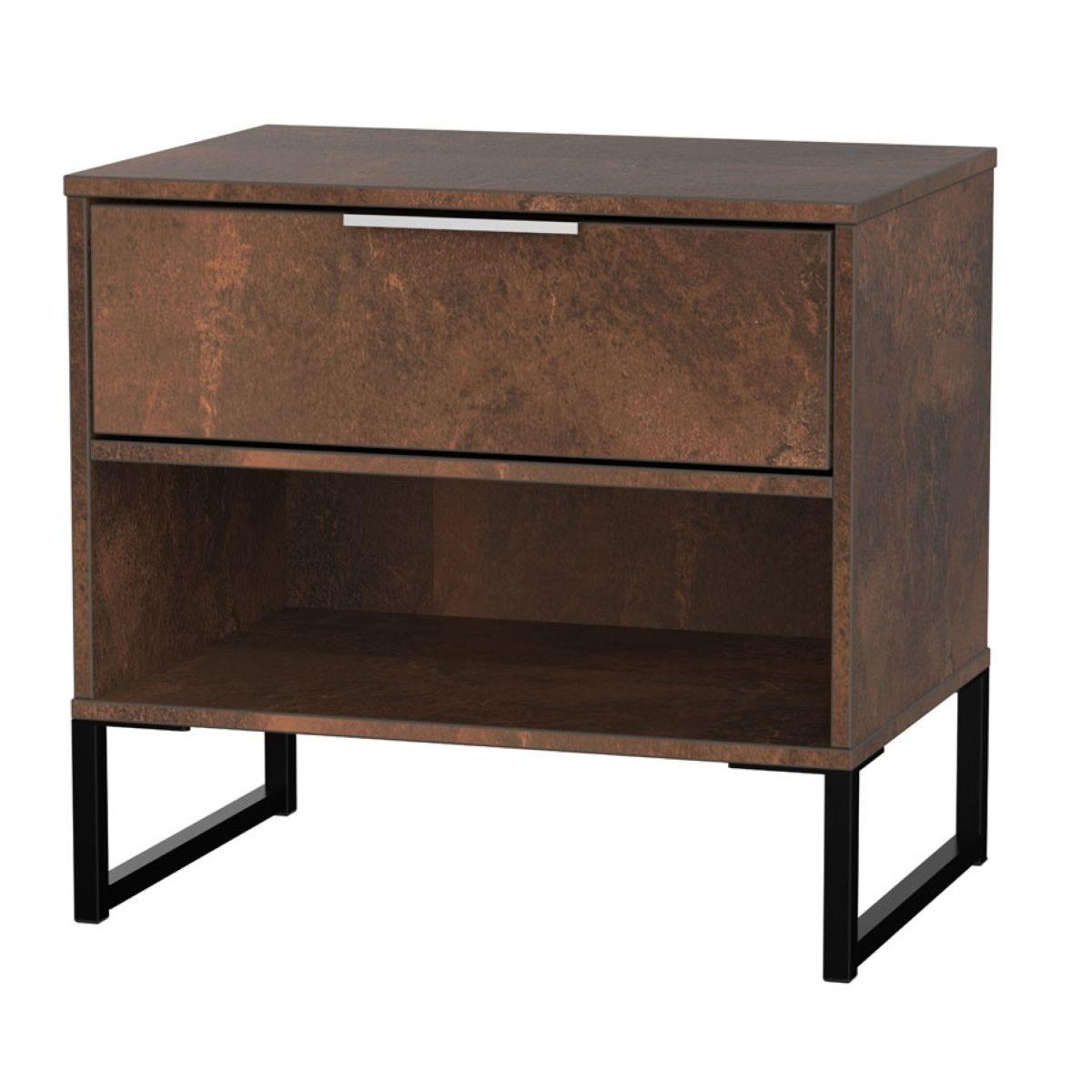 Kishara 1-Drawer Bedside Cabinet - Copper