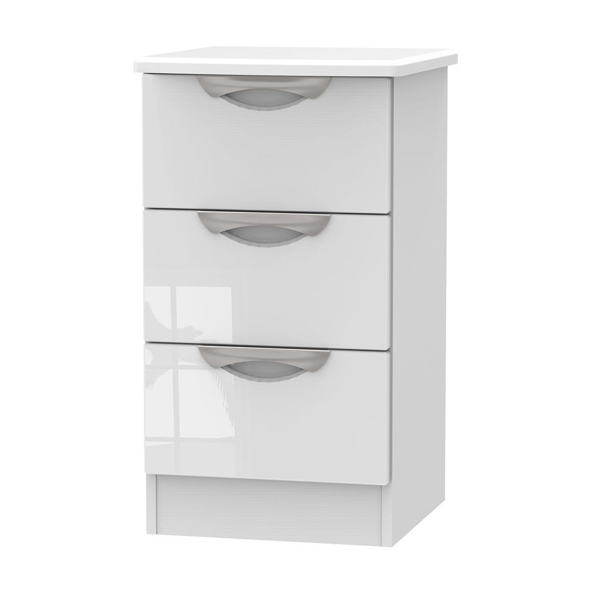 Indices 3-Drawer Bedside Cabinet - White