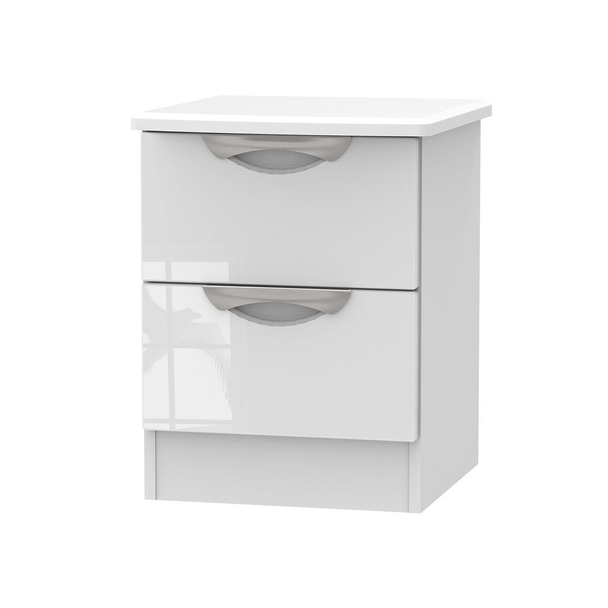 Indices 2-Drawer Bedside Cabinet - White
