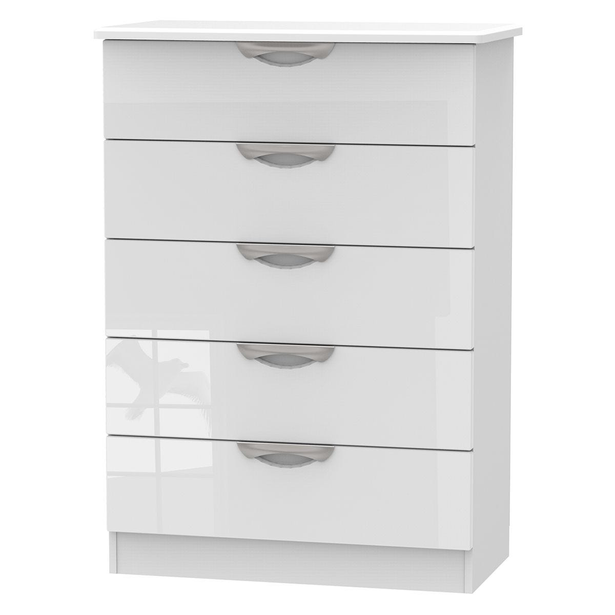 Indices 5 Drawer Chest Of Drawers White Robert Dyas