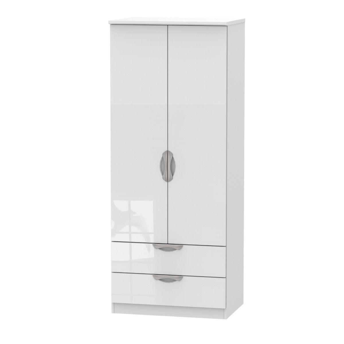 Indices 2 Drawer Robe Dresser - White
