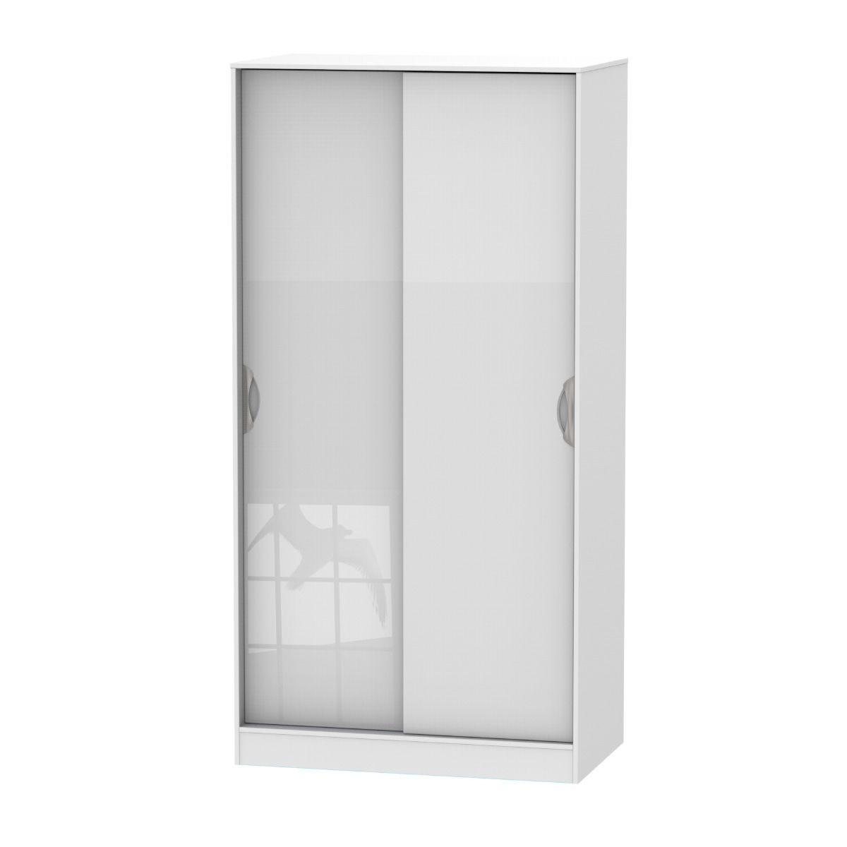 Indices Ready Assembled Sliding Door Robe Dresser - White
