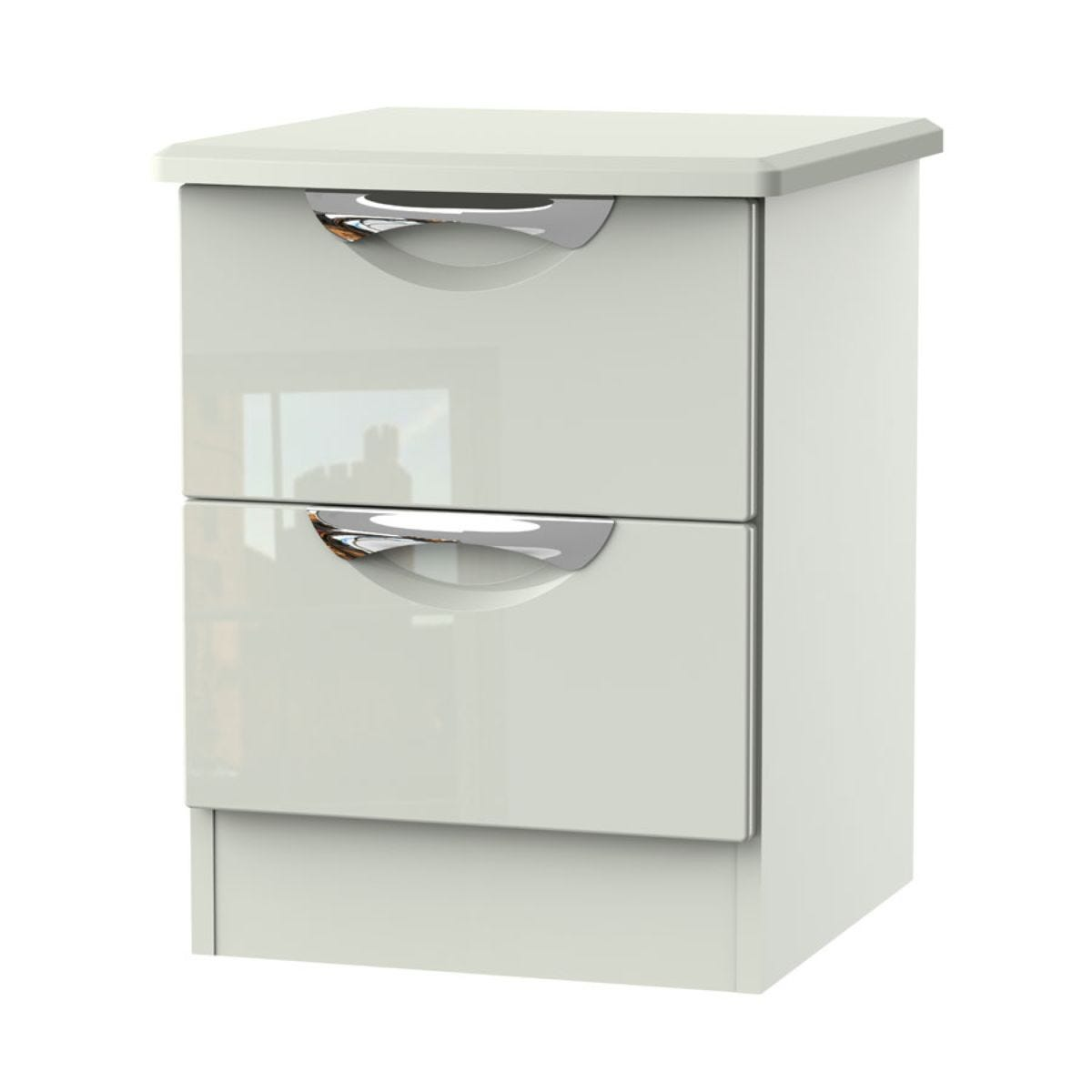 Indices 2-Drawer Bedside Cabinet - White/Grey