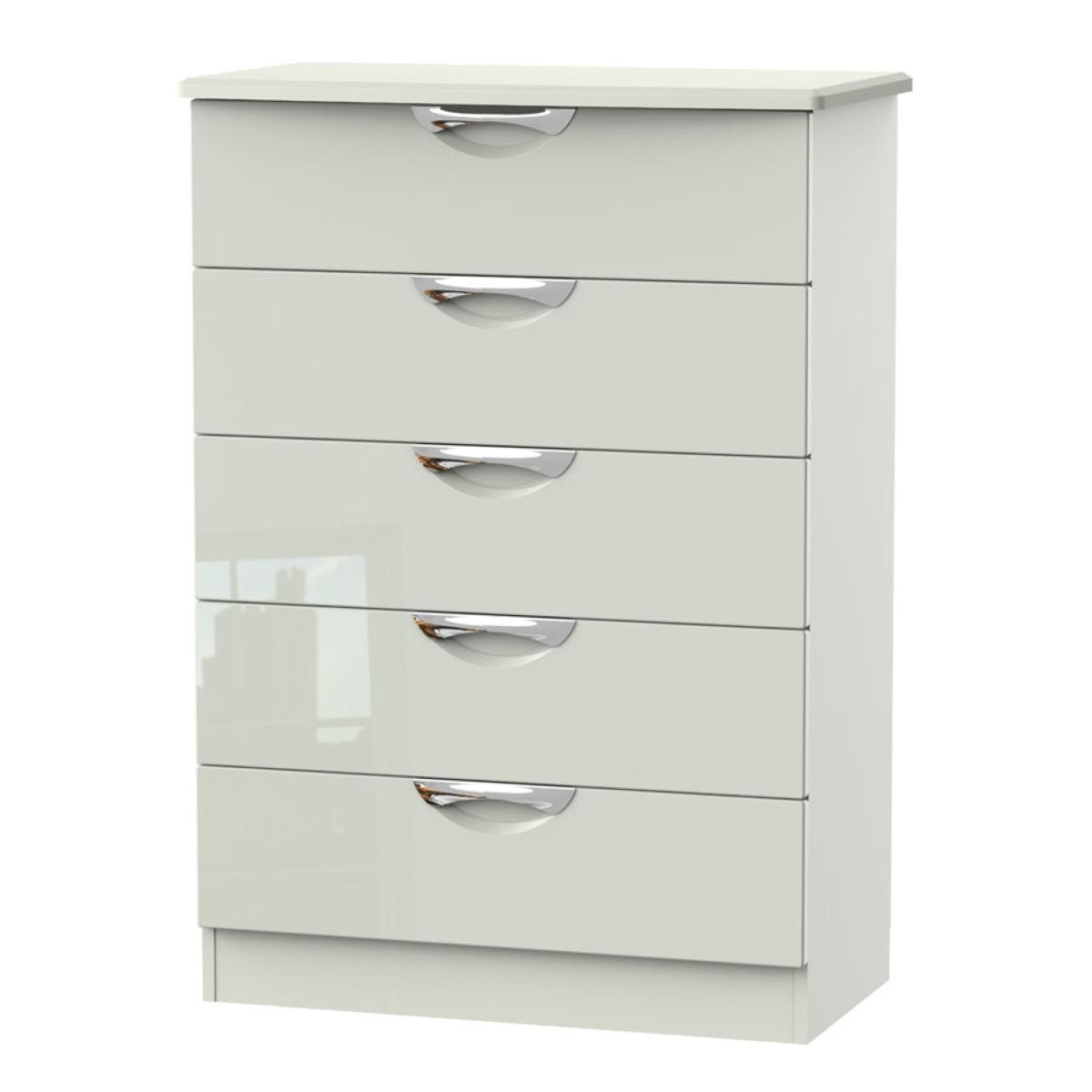 Indices 5-Drawer Chest of Drawers - White/Grey