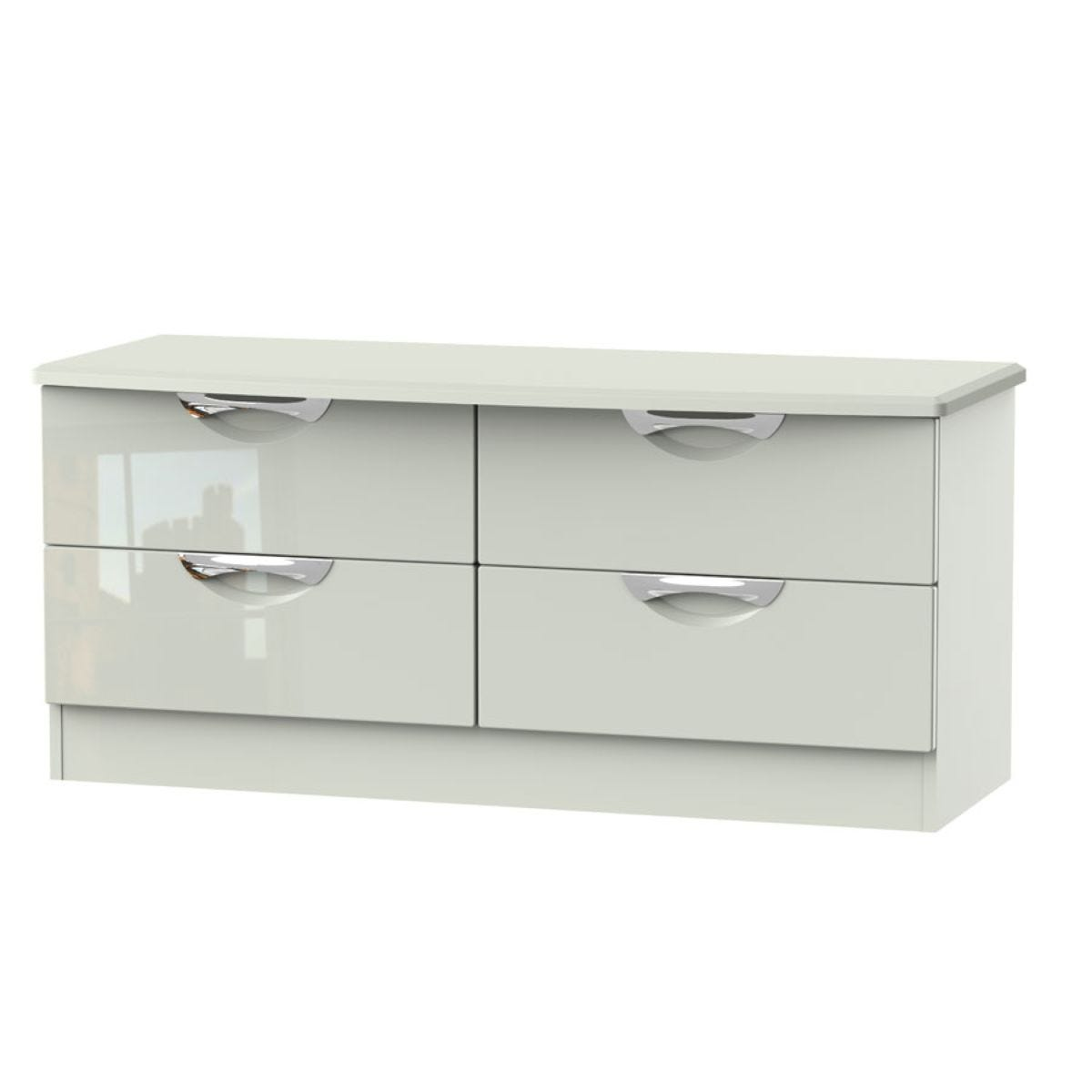 Indices 4-Drawer Double Chest of Drawers - White/Grey