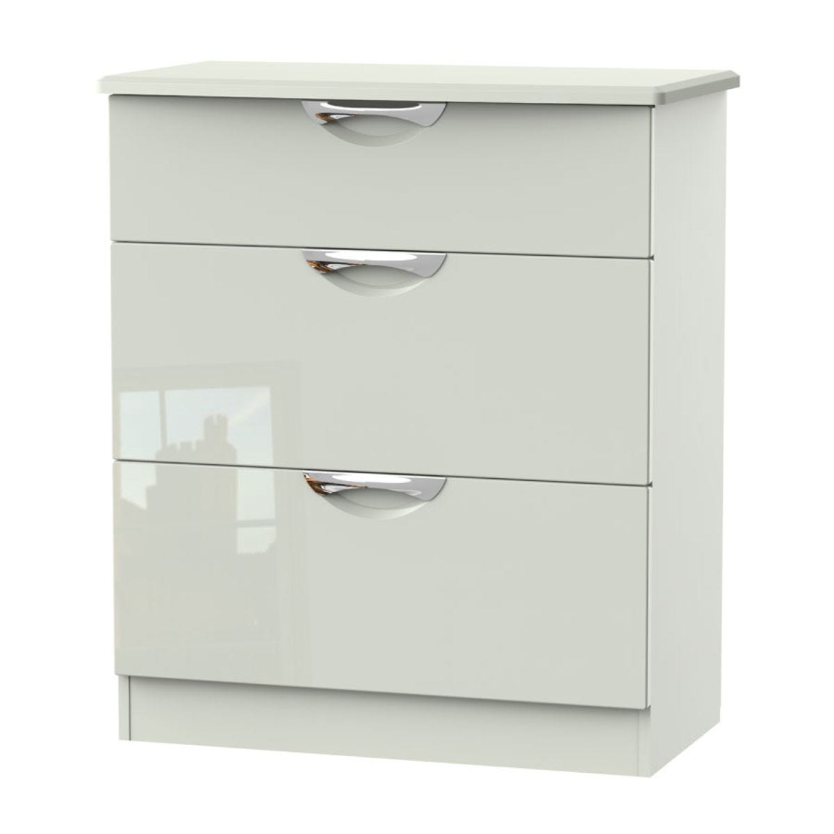 Indices 3-Drawer Chest of Drawers - White/Grey