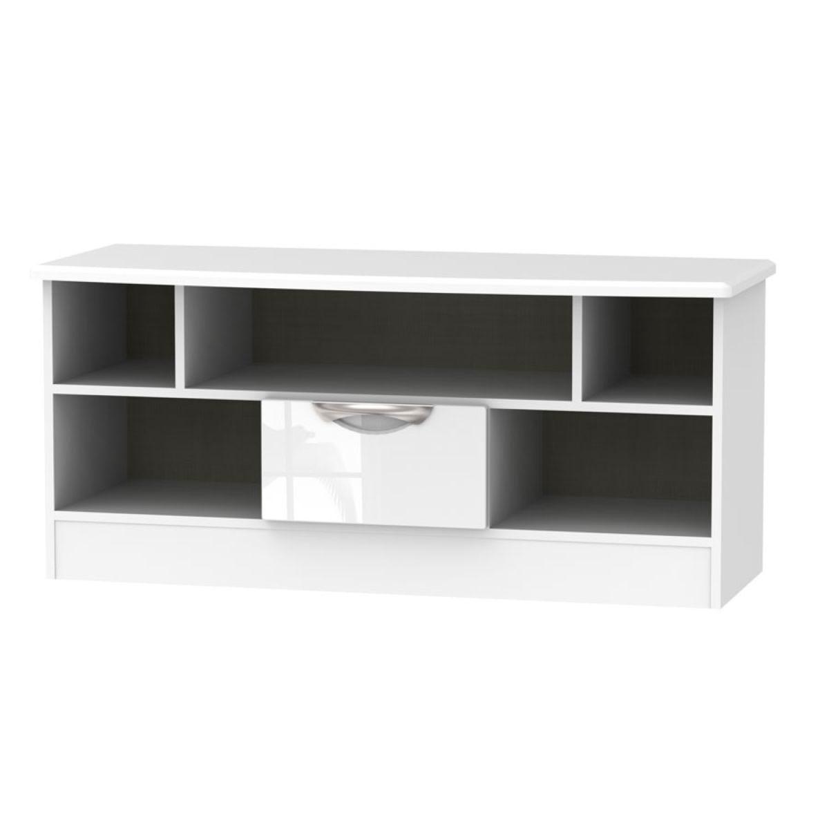 Indices 5-Shelf Open TV Unit - White/Grey