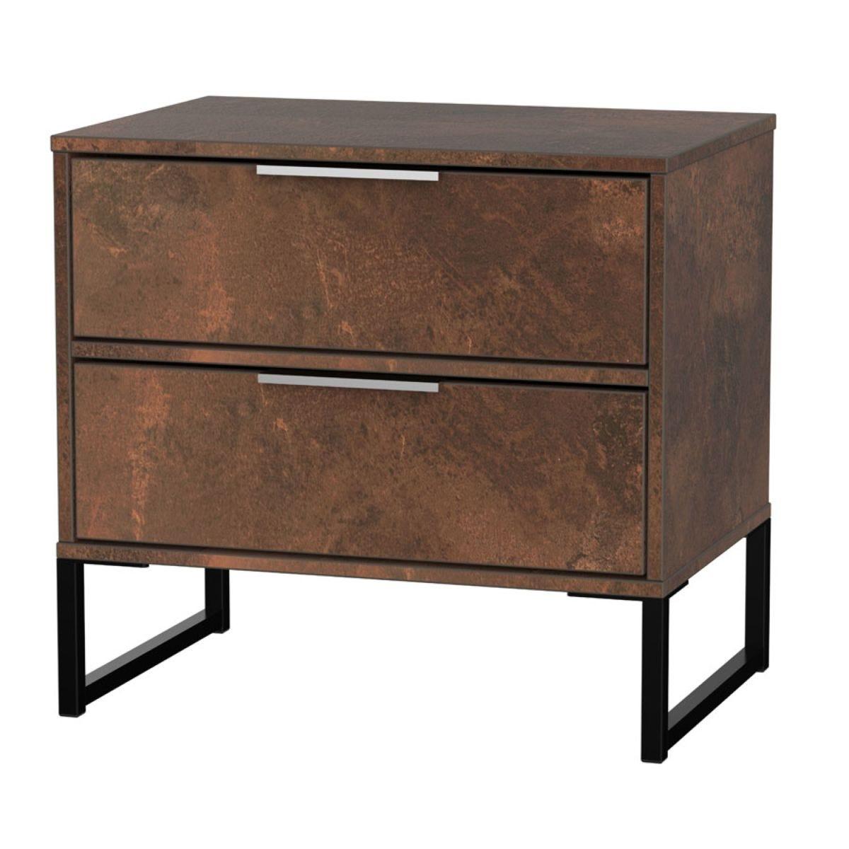 Kishara 2-Drawer Bedside Cabinet - Copper