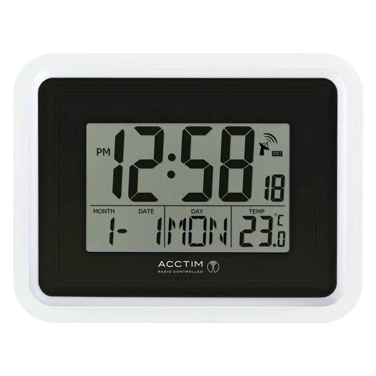 Acctim 'Delta' RC LCD Wall/Desk Clock