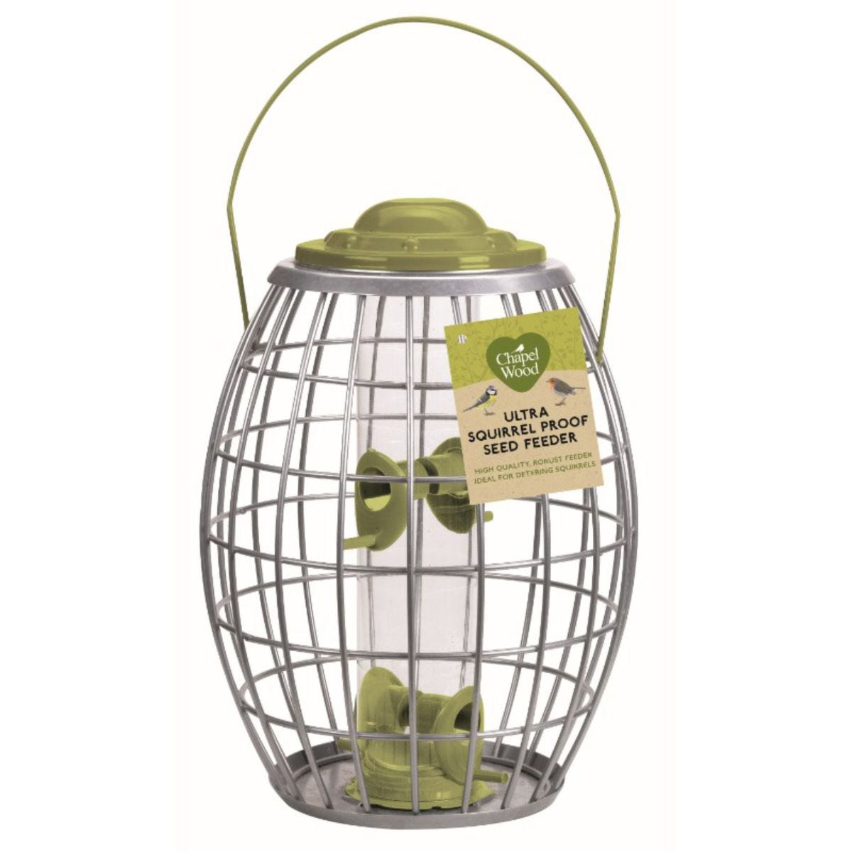 Chapelwood Olive Green Seed Feeder