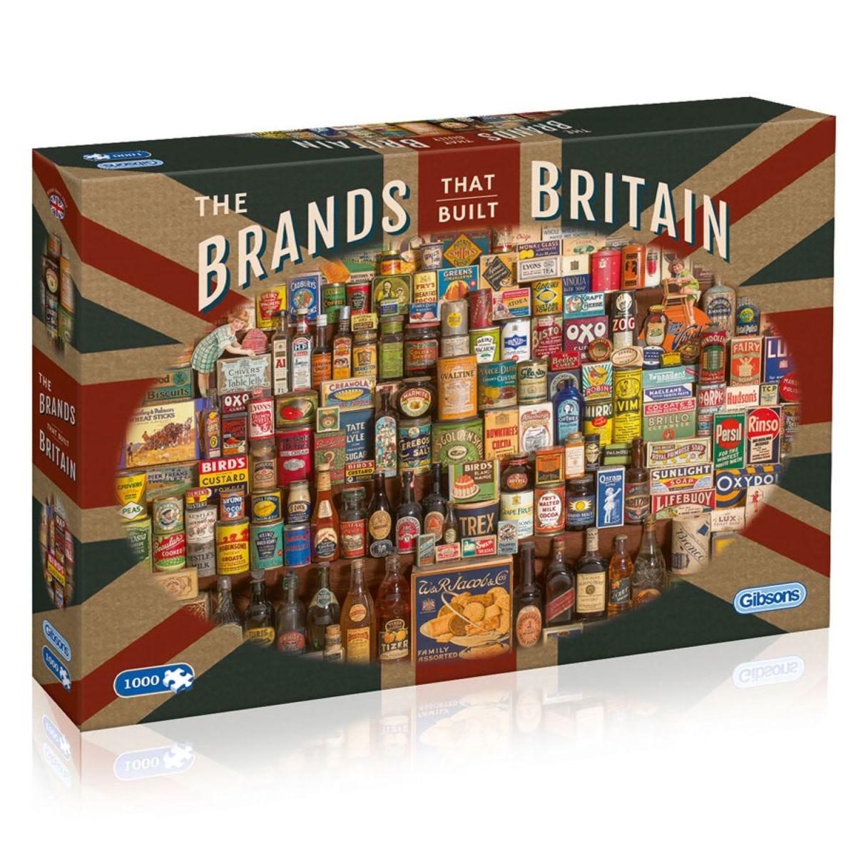 Brands that Built Britain 1000 Piece Jigsaw Puzzle