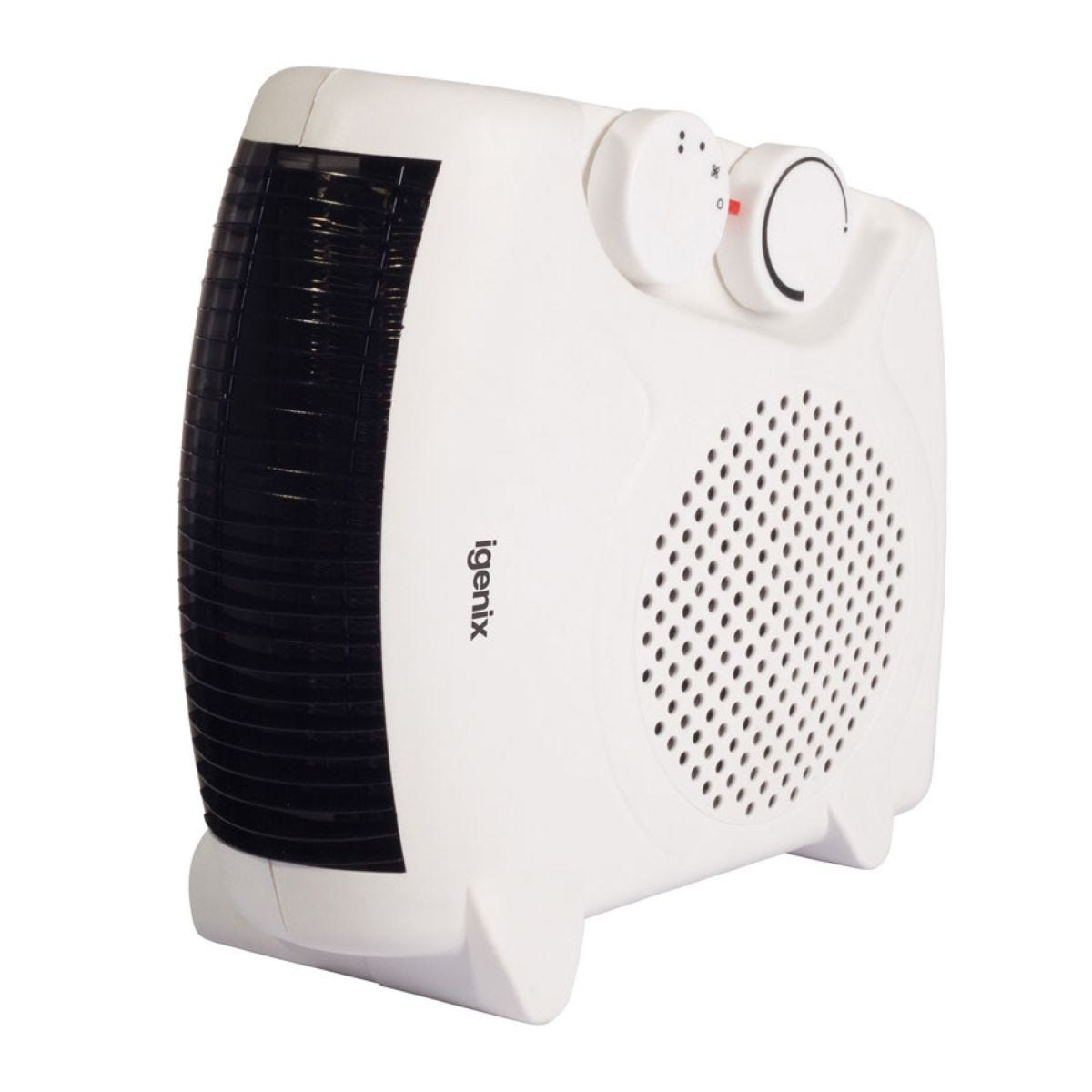 Igenix 2kW Upright and Flat Fan Heater with 2 Heat Settings